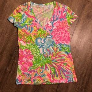 Lilly Pulitzer V Neck T Shirt
